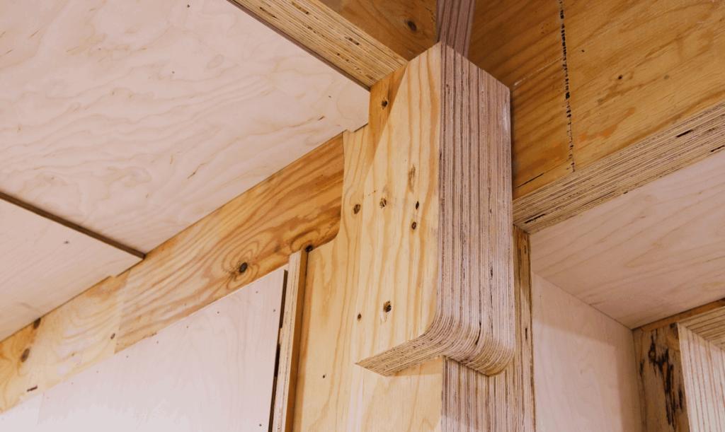 Japanse houtverbinding in houtskeletbouw