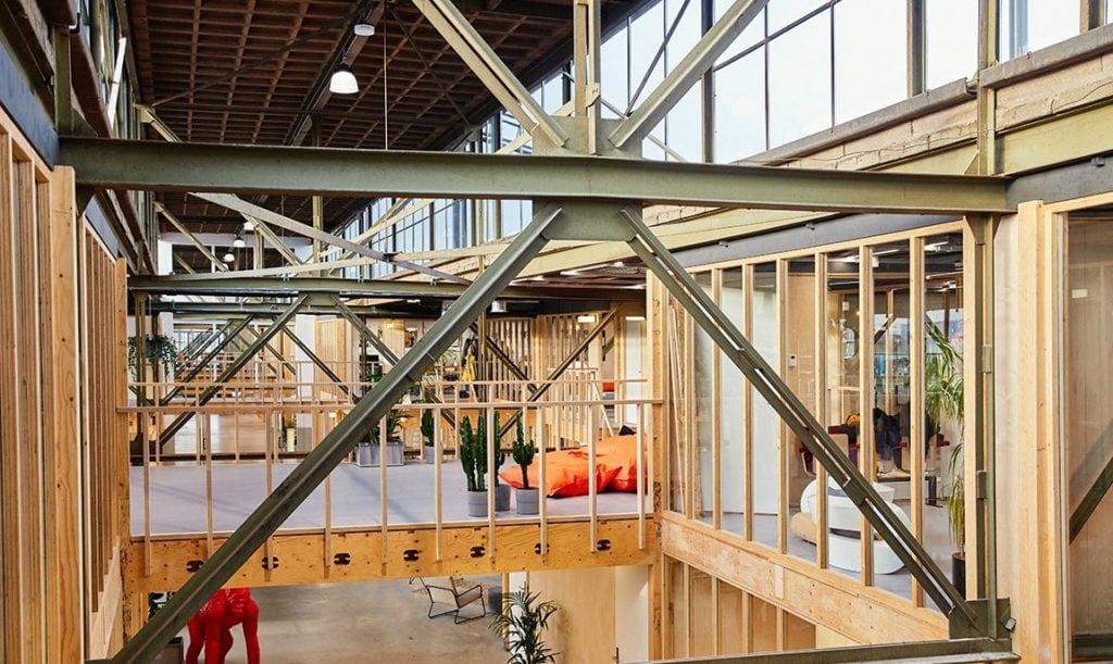 duurzaam kantoor in de Werkspoorfabriek